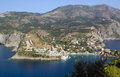 Assos at the island of kefalonia in greece Stock Images