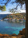 Assos kefallonia greece village seashore Royalty Free Stock Image