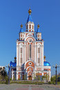 Assumption cathedral in khabarovsk russia far east Royalty Free Stock Photography