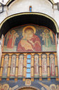 Assumption church facade. Moscow Kremlin. Royalty Free Stock Images