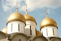 Assumption church golden cupolas moscow kremlin unesco world heritage site Stock Photos