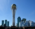 Astana kazakhstan april the monument baiterek modern residential buildings business centers Stock Photography