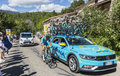 Astana Teamwork on Mont Ventoux - Tour de France 2016 Royalty Free Stock Photo