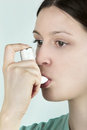 Asthma inhaler Royalty Free Stock Photo
