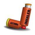 Asthma inhaler isolated on a white background Royalty Free Stock Photos