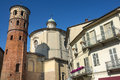 Asti red tower piedmont italy the medieval Royalty Free Stock Images