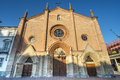 Asti san secondo church piedmont italy of medieval era facade Royalty Free Stock Photography