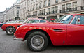 Aston martin line up Royaltyfria Bilder