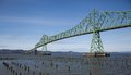 Astoria s bridge linking oregon and washington at across the mouth of the columbia river this structure stands against the wild Stock Photo