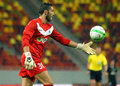 Astra giurgiu omonia nicosia uefa europa league s gk moreira pictured in action during the qualifier game between romania and Royalty Free Stock Photos