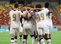 Astra giurgiu omonia nicosia uefa europa league s players celebrate a goal during the qualifier game between romania and Stock Images