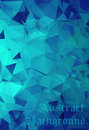 Astract blue background with geometric and origami elements Royalty Free Stock Image