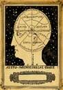 Astro phrenological chart Royalty Free Stock Photo