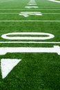 Astro turf football field Royalty Free Stock Photos