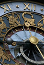 Astrological clock Stock Photography