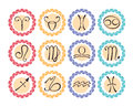 Astrological icons Stock Images