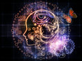 Astrological profile female line and decorative elements on the subject of astrology occult spells foretelling magic and Stock Image