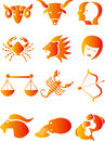 Astrological signs of zodiac set the Stock Images