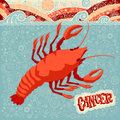 Astrological zodiac sign Cancer. Part of a set of horoscope signs. Royalty Free Stock Photo