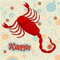 Astrological zodiac sign Scorpius. Part of a set of horoscope signs. Royalty Free Stock Photo
