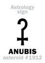 Astrology: asteroid ANUBIS Royalty Free Stock Photo