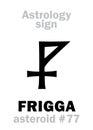 Astrology: asteroid FRIGGA Royalty Free Stock Photo