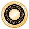 Astrology background black wheel Стоковая Фотография