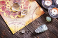Astrology with crystals Royalty Free Stock Photo