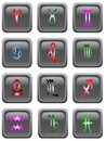 Astrology icon buttons a colection of the twelve icons on Royalty Free Stock Photo