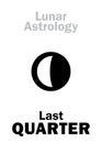 Astrology: Last QUARTER of MOON Royalty Free Stock Photo