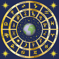 Astrology. Signs of the zodiac and the planets rulers characters Royalty Free Stock Photo