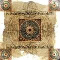 Astrology Zodiac (Lighter) - Grungy background