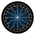 Astrology zodiac with natal chart, zodiac signs and planets Royalty Free Stock Photo