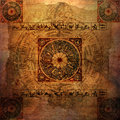 Astrology Zodiac (parchment) - Grungy background Royalty Free Stock Image