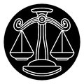 Libra Scales Astrology Horoscope Zodiac Sign Royalty Free Stock Photo