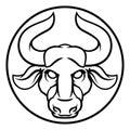 Taurus Bull Astrology Horoscope Zodiac Sign Royalty Free Stock Photo
