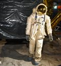 stock image of  Astronaut on moon landing mission. Elements of this image furnished by NASA