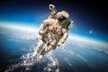 Kosmonaut v kosmický prostor