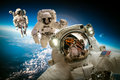 Astronaut in outer space Royalty Free Stock Photo