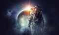 Astronaut In Outer Space. Mixe...