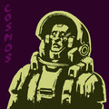 Astronaut science fiction character. Vector illustration. Royalty Free Stock Photo