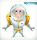 Astronaut in spacesuit. Vector icon 3d
