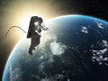 An astronaut spacewalk manned space exploration concept Royalty Free Stock Photo