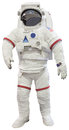 Astronauts suit isolated white this file is Stock Photos