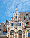 The astronomical clock brussels belgium june tower of art nouveau mansion on coudenberg street with on june in brussels Stock Images