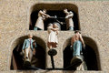 Astronomical Clock Dancing Figures - Olomouc - Czech Republic Royalty Free Stock Photo