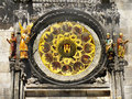 Astronomical clock a detail of the famous in prague czech republic Royalty Free Stock Photos