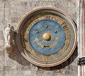 Astronomical clock duomo messina sicily italy orologio astronomico or eternal calendar on the bell tower of the cathedral of Royalty Free Stock Image