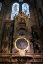 Astronomical clock in notre dame cathedral strasbourg france alsace Stock Images