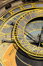 Astronomical clock on old town hall old town square prague czech republic Stock Images